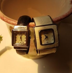 2 geneva cuff watches mop faces